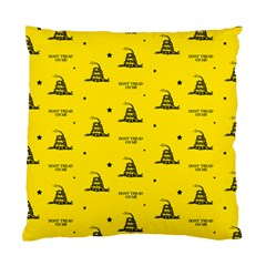 Gadsden Flag Don t Tread On Me Yellow And Black Pattern With American Stars Standard Cushion Case (two Sides)