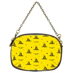 Gadsden Flag Don t Tread On Me Yellow And Black Pattern With American Stars Chain Purse (two Sides)