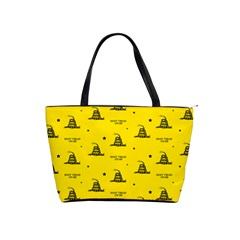 Gadsden Flag Don t Tread On Me Yellow And Black Pattern With American Stars Classic Shoulder Handbag