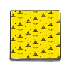 Gadsden Flag Don t Tread On Me Yellow And Black Pattern With American Stars Memory Card Reader (square 5 Slot)