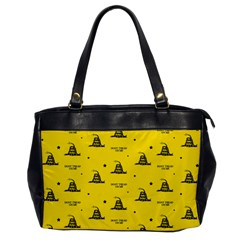 Gadsden Flag Don t Tread On Me Yellow And Black Pattern With American Stars Oversize Office Handbag