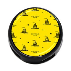 Gadsden Flag Don t Tread On Me Yellow And Black Pattern With American Stars 4-port Usb Hub (one Side)