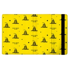 Gadsden Flag Don t Tread On Me Yellow And Black Pattern With American Stars Apple Ipad 2 Flip Case