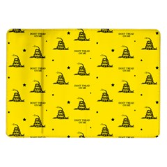 Gadsden Flag Don t Tread On Me Yellow And Black Pattern With American Stars Samsung Galaxy Tab 10 1  P7500 Flip Case