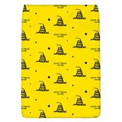 Gadsden Flag Don t Tread On Me Yellow And Black Pattern With American Stars Removable Flap Cover (l)