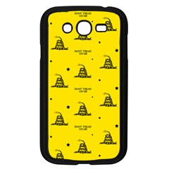 Gadsden Flag Don t Tread On Me Yellow And Black Pattern With American Stars Samsung Galaxy Grand Duos I9082 Case (black)