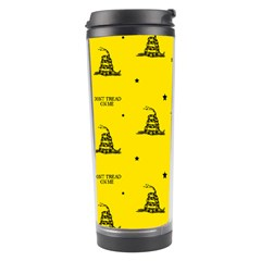 Gadsden Flag Don t Tread On Me Yellow And Black Pattern With American Stars Travel Tumbler by snek
