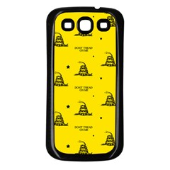 Gadsden Flag Don t Tread On Me Yellow And Black Pattern With American Stars Samsung Galaxy S3 Back Case (black)