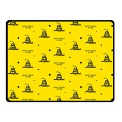 Gadsden Flag Don t Tread On Me Yellow And Black Pattern With American Stars Double Sided Fleece Blanket (small)