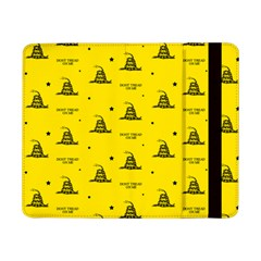 Gadsden Flag Don t Tread On Me Yellow And Black Pattern With American Stars Samsung Galaxy Tab Pro 8 4  Flip Case