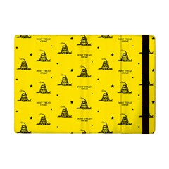 Gadsden Flag Don t Tread On Me Yellow And Black Pattern With American Stars Ipad Mini 2 Flip Cases
