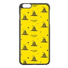Gadsden Flag Don t Tread On Me Yellow And Black Pattern With American Stars Iphone 6 Plus/6s Plus Black Enamel Case