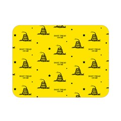 Gadsden Flag Don t Tread On Me Yellow And Black Pattern With American Stars Double Sided Flano Blanket (mini)