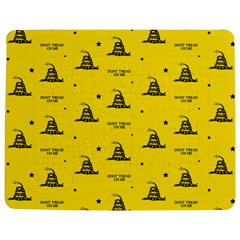 Gadsden Flag Don t Tread On Me Yellow And Black Pattern With American Stars Jigsaw Puzzle Photo Stand (rectangular)