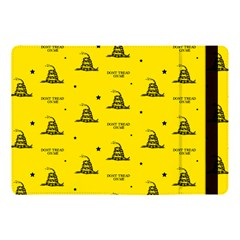 Gadsden Flag Don t Tread On Me Yellow And Black Pattern With American Stars Apple Ipad Pro 10 5   Flip Case