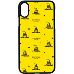 Gadsden Flag Don t Tread On Me Yellow And Black Pattern With American Stars Iphone X Seamless Case (black)
