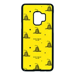 Gadsden Flag Don t Tread On Me Yellow And Black Pattern With American Stars Samsung Galaxy S9 Seamless Case(black)