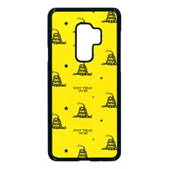 Gadsden Flag Don t Tread On Me Yellow And Black Pattern With American Stars Samsung Galaxy S9 Plus Seamless Case(black) by snek