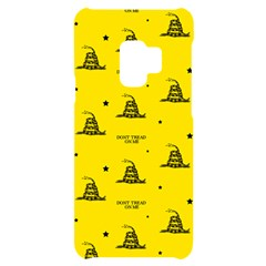 Gadsden Flag Don t Tread On Me Yellow And Black Pattern With American Stars Samsung S9 Black Uv Print Case