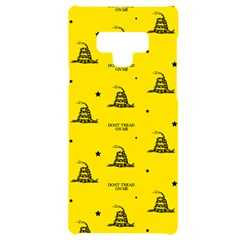 Gadsden Flag Don t Tread On Me Yellow And Black Pattern With American Stars Samsung Note 9 Black Uv Print Case