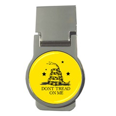 Gadsden Flag Don t Tread On Me Yellow And Black Pattern With American Stars Money Clips (round)
