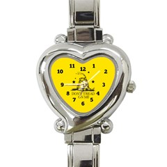 Gadsden Flag Don t Tread On Me Yellow And Black Pattern With American Stars Heart Italian Charm Watch