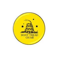 Gadsden Flag Don t Tread On Me Yellow And Black Pattern With American Stars Hat Clip Ball Marker