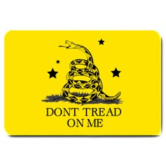 Gadsden Flag Don t Tread On Me Yellow And Black Pattern With American Stars Large Doormat
