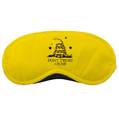 Gadsden Flag Don t Tread On Me Yellow And Black Pattern With American Stars Sleeping Mask