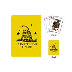Gadsden Flag Don t Tread On Me Yellow And Black Pattern With American Stars Playing Cards Single Design (mini)