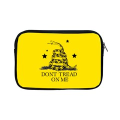 Gadsden Flag Don t Tread On Me Yellow And Black Pattern With American Stars Apple Ipad Mini Zipper Cases