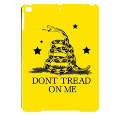 Gadsden Flag Don t Tread On Me Yellow And Black Pattern With American Stars Apple Ipad Pro 9 7   Black Uv Print Case