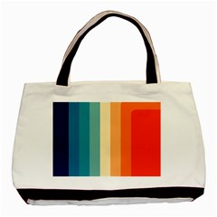 Vintage Rainbow Palette Basic Tote Bag (two Sides)