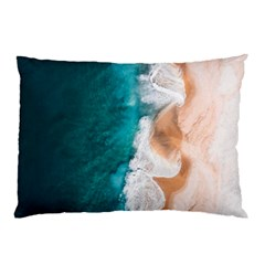 Sea Waves Pillow Case by goljakoff