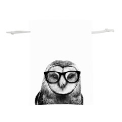 Hipster Owl Lightweight Drawstring Pouch (s)