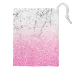 Pink Glitter Marble Drawstring Pouch (5xl)