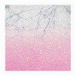 Pink glitter marble Medium Glasses Cloth Front