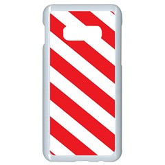 Candy Cane Red White Line Stripes Pattern Peppermint Christmas Delicious Design Samsung Galaxy S10e Seamless Case (white) by genx