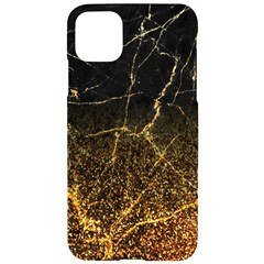 Black Gold Glitter Marble Iphone 11 Pro Max Black Uv Print Case