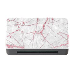 Pink Glitter Marble Memory Card Reader With Cf