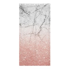 Rose Glitter Marble Shower Curtain 36  X 72  (stall)  by goljakoff