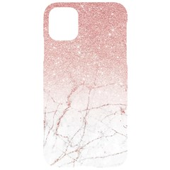 Rose Glitter Marble Iphone 11 Pro Black Uv Print Case by goljakoff