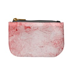 Red Marble Mini Coin Purse