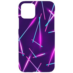 Retrowave Aesthetic Vaporwave Retro Memphis Pattern 80s Design Geometric Shapes Futurist Purple Pink Blue Neon Light Iphone 11 Black Uv Print Case