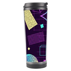 Retrowave Aesthetic Vaporwave Retro Memphis Pattern 80s Design 3d Geometric Shapes Travel Tumbler by genx
