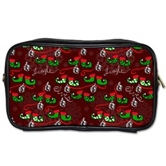 Elves Jingle Toiletries Bag (two Sides) by bloomingvinedesign
