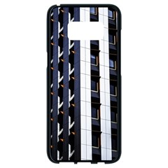 Architecture Building Pattern Samsung Galaxy S8 Black Seamless Case by Amaryn4rt