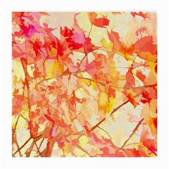 Monotype Art Pattern Leaves Colored Autumn Medium Glasses Cloth by Amaryn4rt