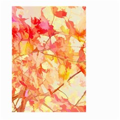 Monotype Art Pattern Leaves Colored Autumn Large Garden Flag (two Sides) by Amaryn4rt