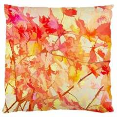 Monotype Art Pattern Leaves Colored Autumn Large Flano Cushion Case (one Side) by Amaryn4rt